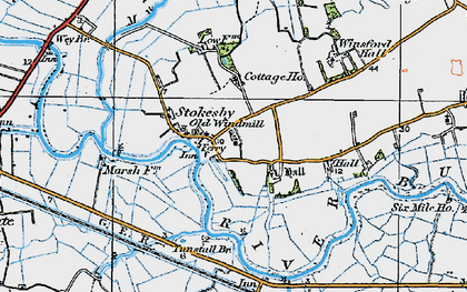 Old map of Winsford Hall in 1922
