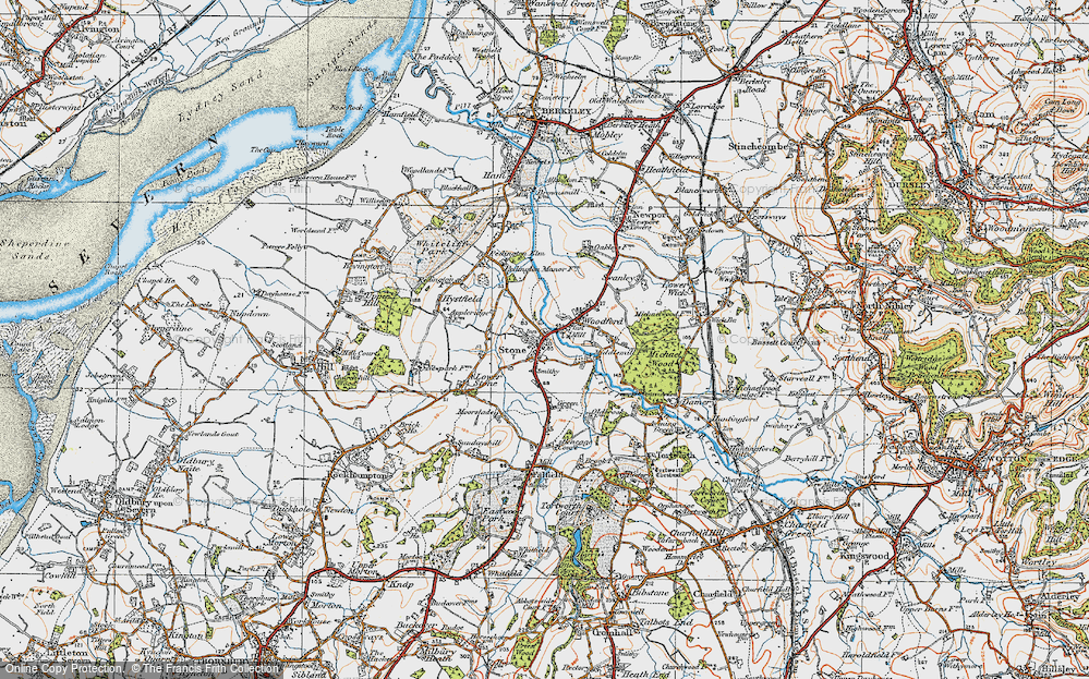Old Map of Stone, 1919 in 1919