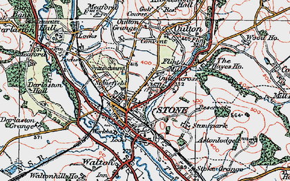 Old map of Stone in 1921