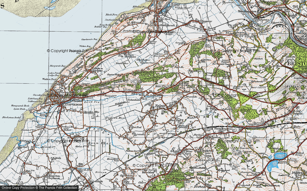 Old Map of Historic Map covering Lime Breach Wood in 1919