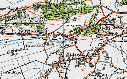 Old map of Lime Breach Wood in 1919