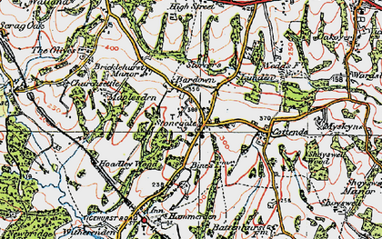 Old map of Stonegate in 1920