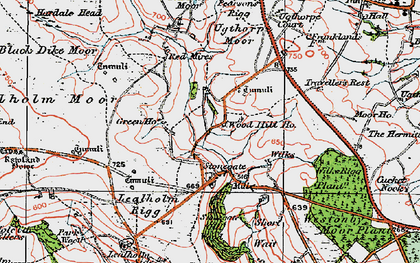 Old map of Westonby Plantn in 1925