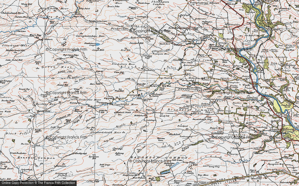 Old Map of Historic Map covering Leadgate in 1925