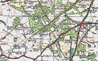 Old map of Stonehill in 1920