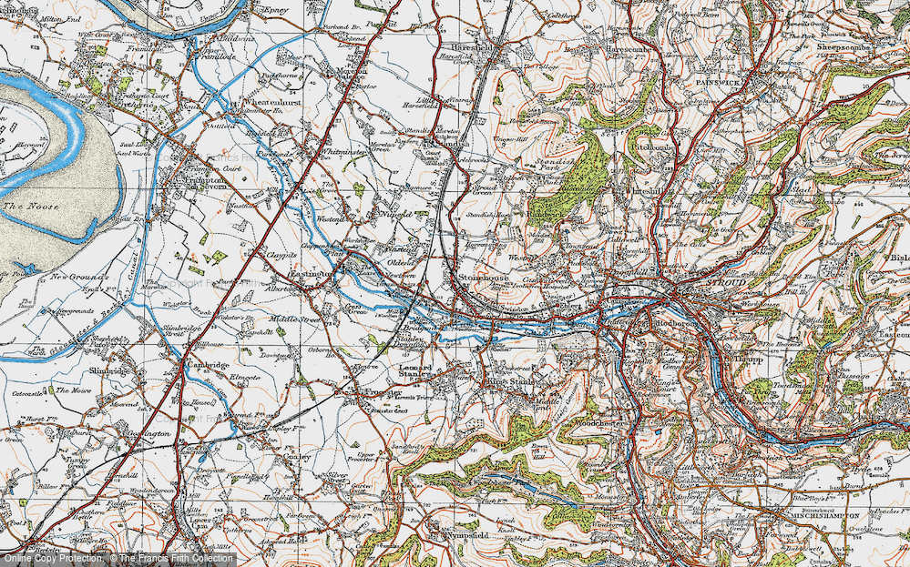 Old Map of Stonehouse, 1919 in 1919