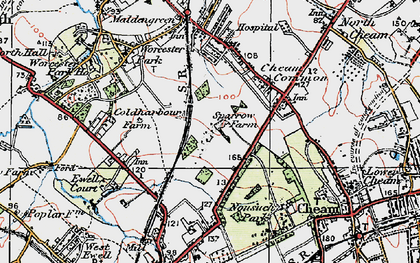 Old map of Stoneleigh in 1920