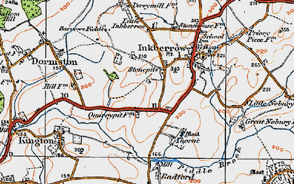 Old map of Stonepits in 1919