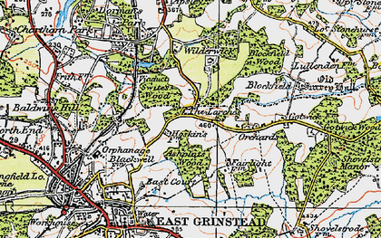 Old map of Larches, The in 1920
