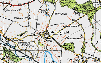 Old map of Ash Copse in 1919