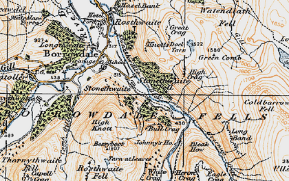 Old map of White Crag in 1925