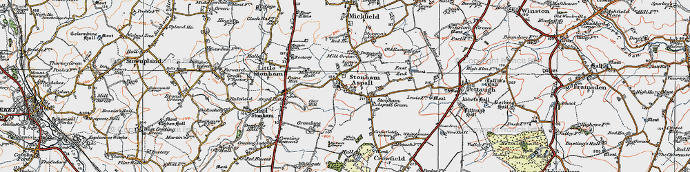 Old map of Whin Plantn in 1921