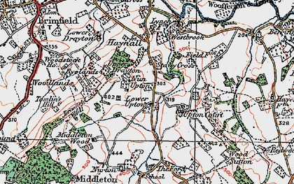 Old map of Wood Sutton in 1920