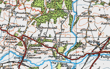 Old map of Stopham Ho in 1920