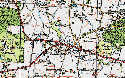 Old map of Storrington in 1920