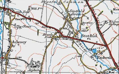 Old map of Stotfold in 1919