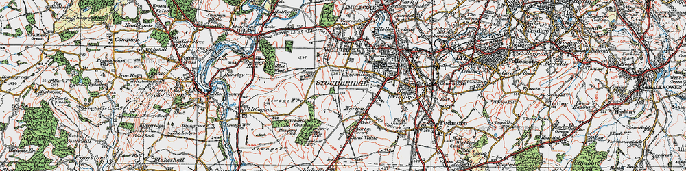Old map of Stourbridge in 1921