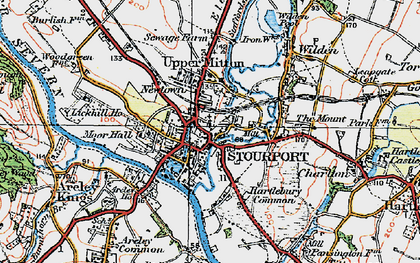 Old map of Stourport-on-Severn in 1920