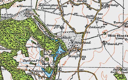 Old map of Stourhead in 1919
