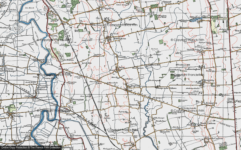 Old Map of Stow, 1923 in 1923