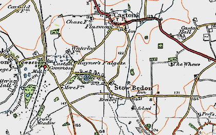Old map of Whews, The in 1921