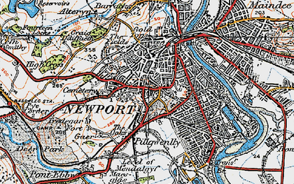 Old map of Stow Park in 1919