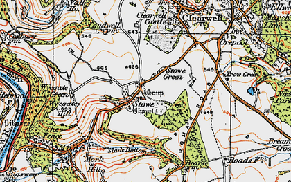 Old map of Stowe in 1919