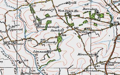 Old map of Worden in 1919