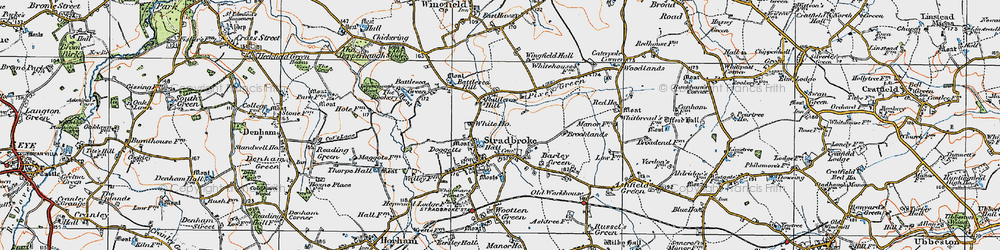 Old map of Wingfield Hall in 1921