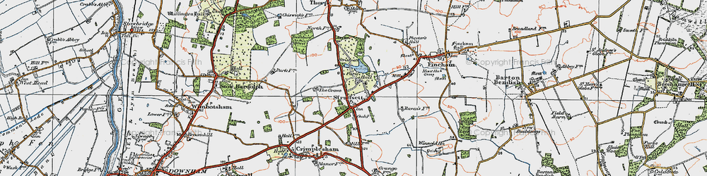 Old map of Toombers Wood in 1922