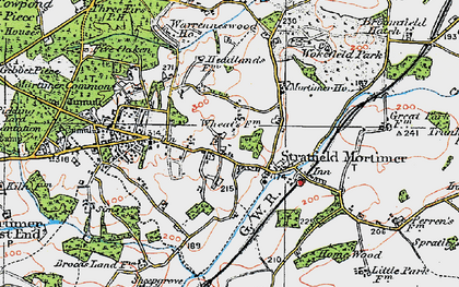 Old map of Stratfield Mortimer in 1919