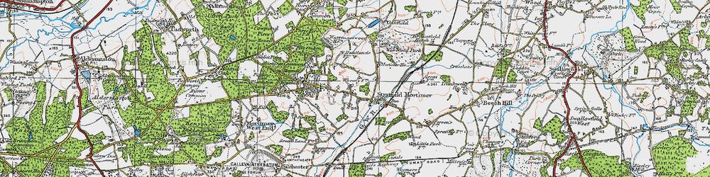 Old map of Wokefield Park in 1919