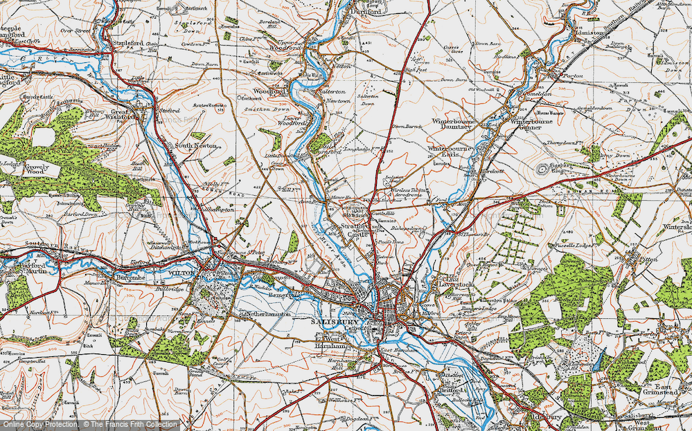 Old Map of Historic Map covering Avon Br in 1919