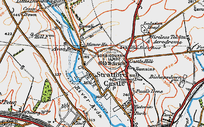 Old map of Old Sarum in 1919