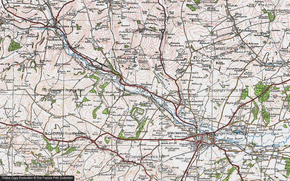 Old Map of Historic Map covering Ash Hill in 1919