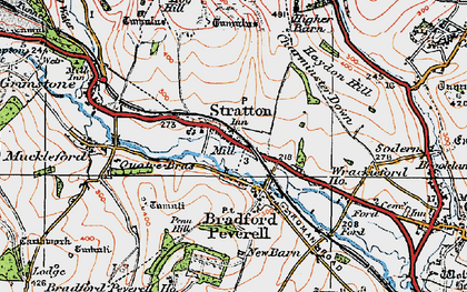 Old map of Wrackleford in 1919