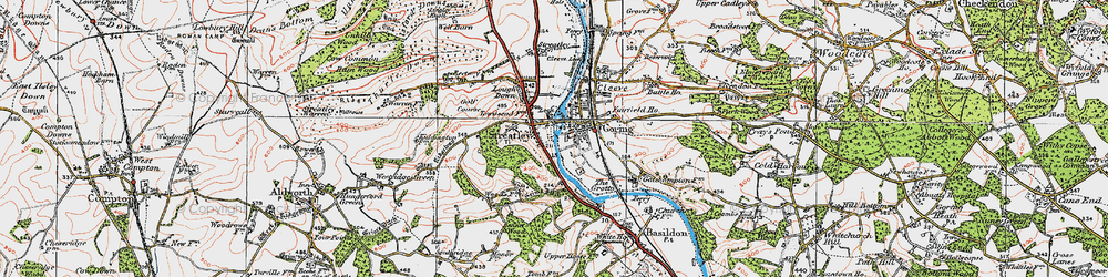 Old map of Streatley in 1919