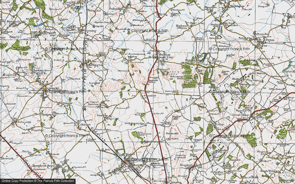 Old Map of Streatley, 1919 in 1919