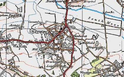 Old map of Street in 1919