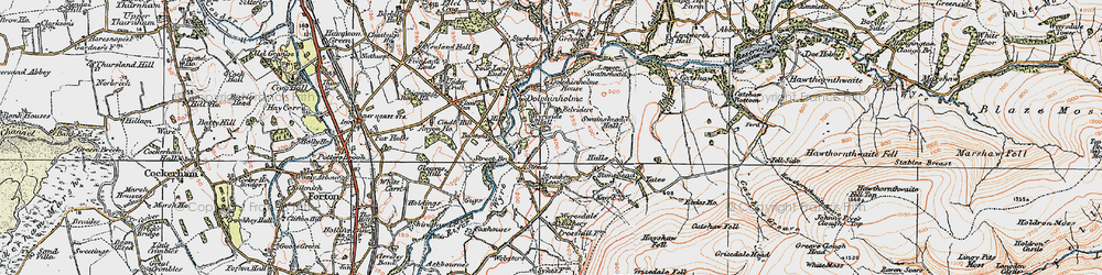 Old map of Wyreside Hall in 1924