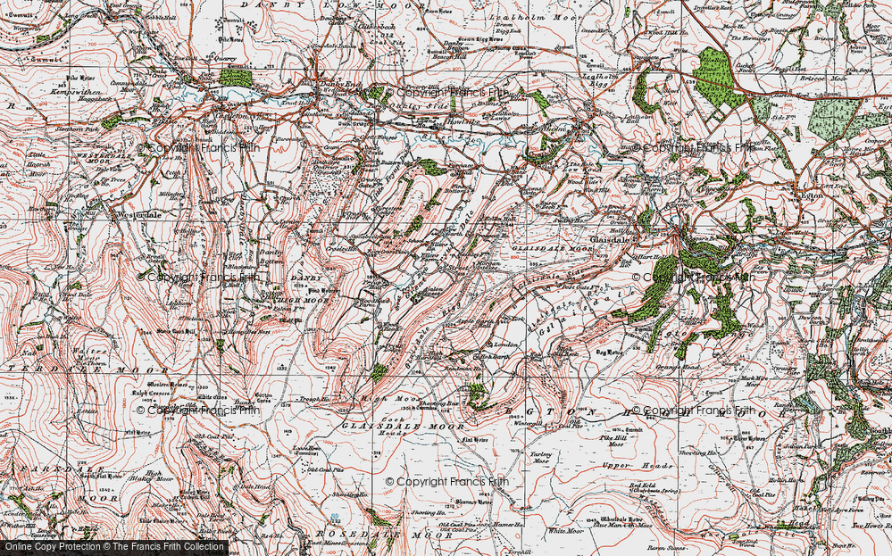 Old Map of Historic Map covering York Ho in 1925