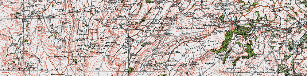 Old map of Wolf Pit (Tumulus) in 1925