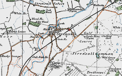 Old map of Strensall in 1924