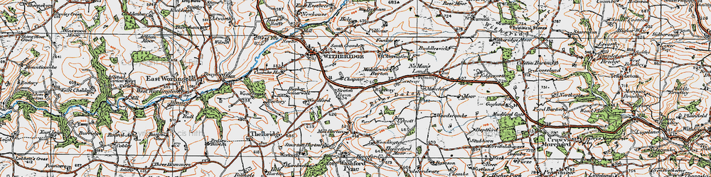 Old map of Woodington in 1919