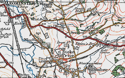 Old map of Wheelbarrow Castle in 1920