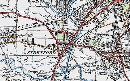 Old map of Barfoot Br in 1924