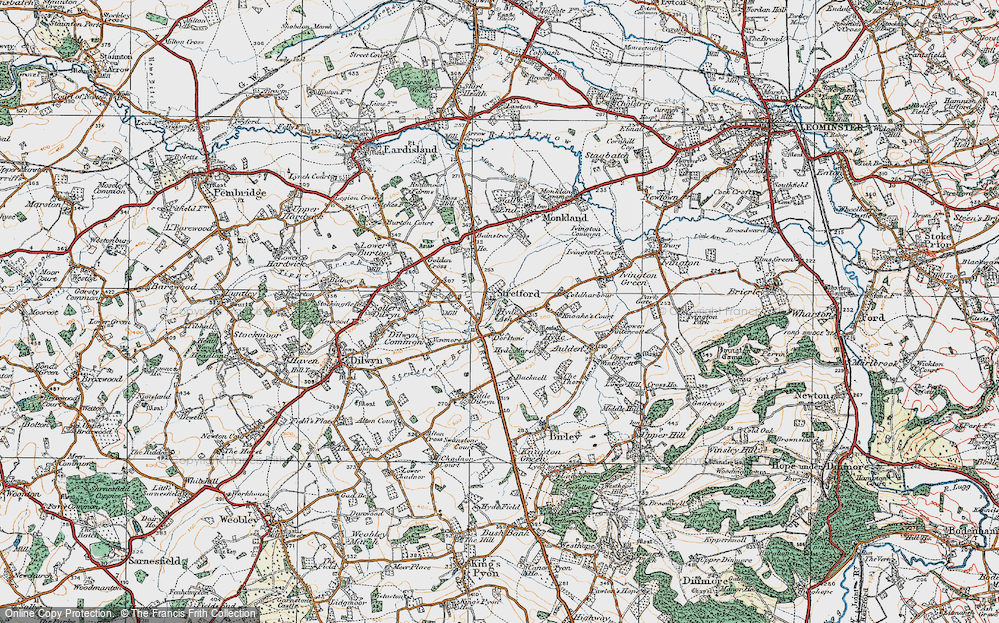 Old Map of Historic Map covering Bainstree Cross in 1920