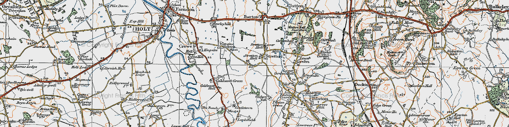 Old map of Wetreins, The in 1921
