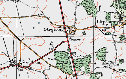 Old map of Woolfox Wood in 1922