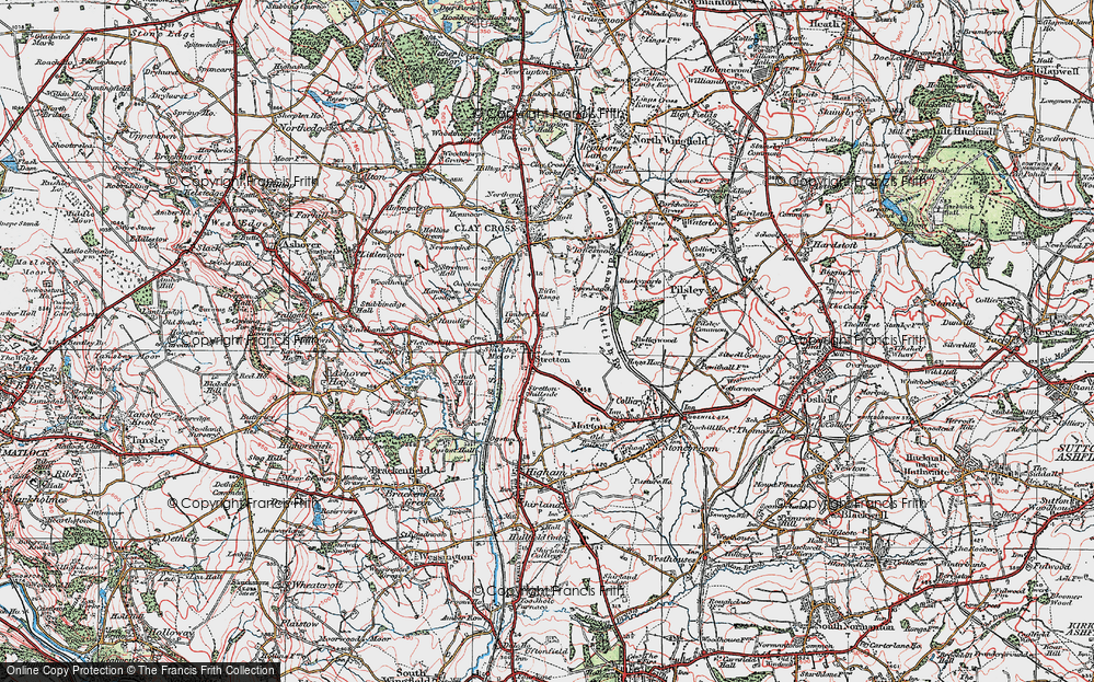 Old Map of Stretton, 1923 in 1923